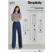 8701 Simplicity Pattern: Misses' Trouser Pattern with Hacking Instructions